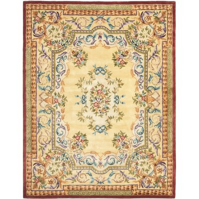 Bedgood Gold Area Rug Rug Size: Rectangle 4 x 6