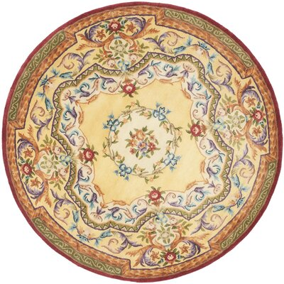 Bedgood Gold Area Rug Rug Size: Round 4