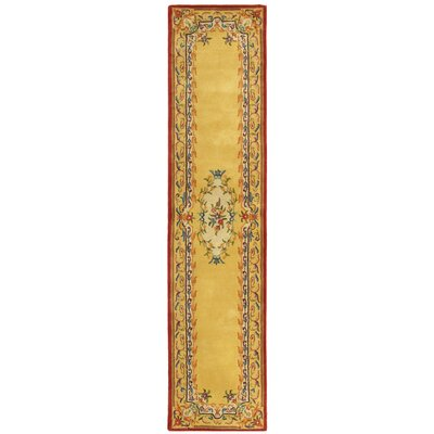 Bedgood Gold Area Rug Rug Size: Runner 26 x 12