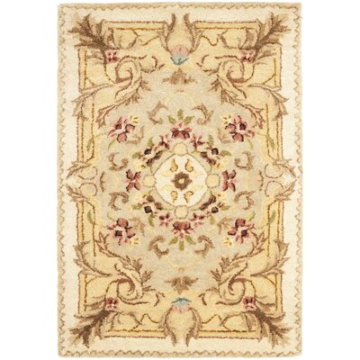 Bedgood Beige/Light Gold Area Rug Rug Size: 2 x 3