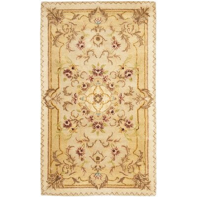 Bedgood Beige/Light Gold Area Rug Rug Size: Rectangle 3 x 5