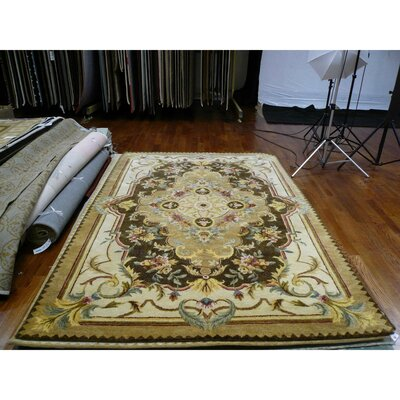 Bedgood Brown/Beige Area Rug Rug Size: Round 4