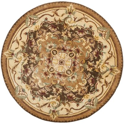 Bedgood Brown/Beige Area Rug Rug Size: Round 6
