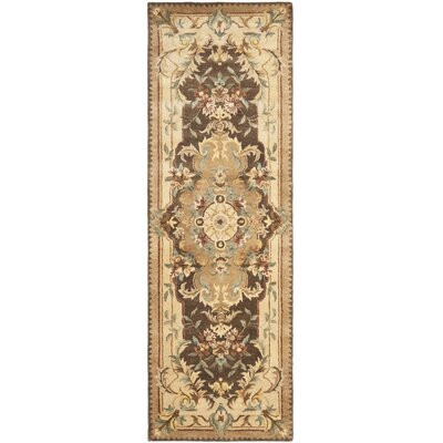 Bedgood Brown/Beige Area Rug Rug Size: Runner 26 x 8