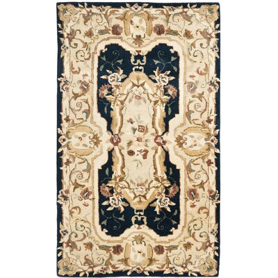 Bedgood Navy/Beige Area Rug Rug Size: Rectangle 4 x 6