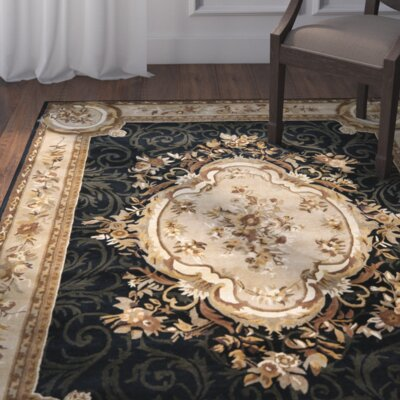 Bedgood Gold/Green Area Rug Rug Size: 4 x 6