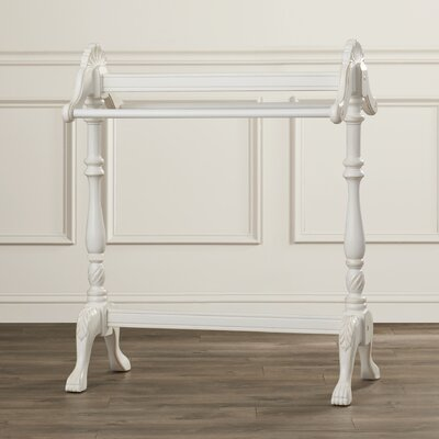 Bedingfield Wood Accent Quilt Rack Color: Cottage White