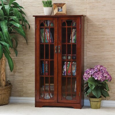 Window Pane Multimedia Cabinet Finish: Cherry