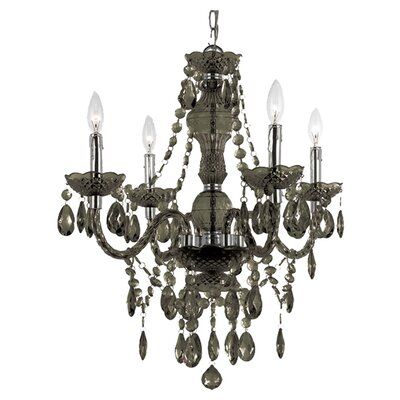 Ice Palace 4-Light Crystal Chandelier Color: Black