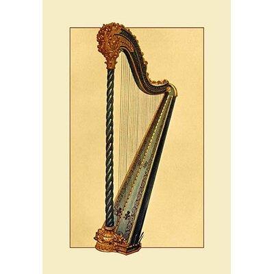 'Pedal Harp' Graphic Art