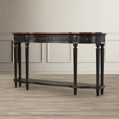Beever Antique Console Table Finish: Enonville Texture Black and Brown