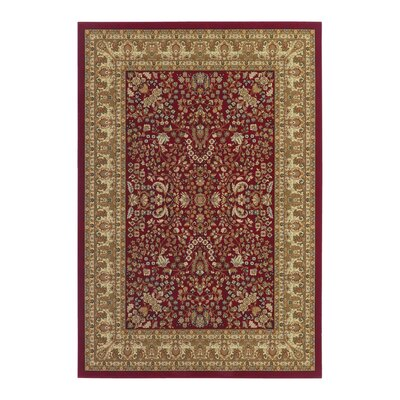 Belcourt Floral Red Area Rug Rug Size: 710 x 112