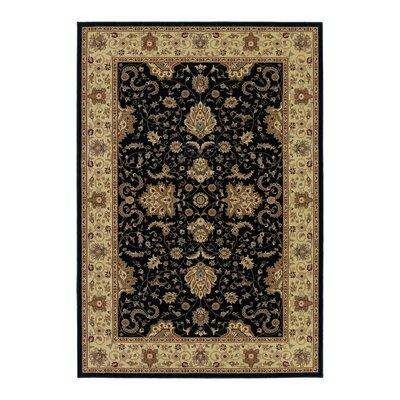 Belcourt Floral Black Area Rug Rug Size: 710 x 112