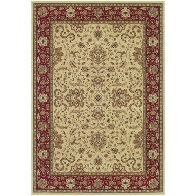 Belcourt Floral Ivory Area Rug Rug Size: 311 x 53