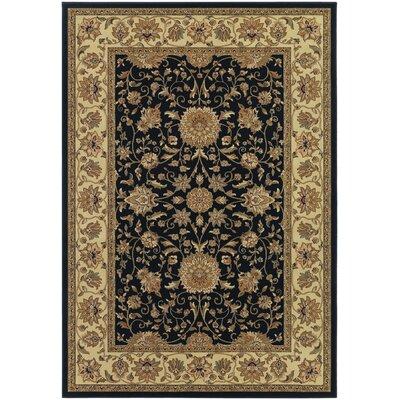 Belcourt Floral Black Area Rug Rug Size: 2 x 311
