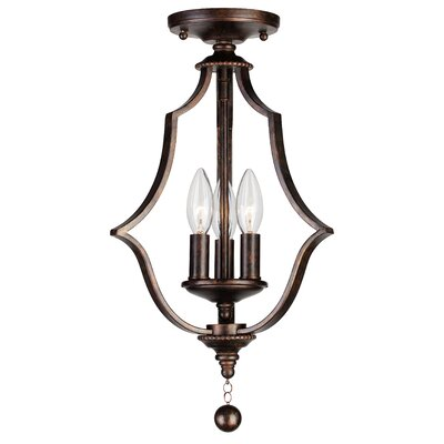Belding 3-Light Semi Flush Mount