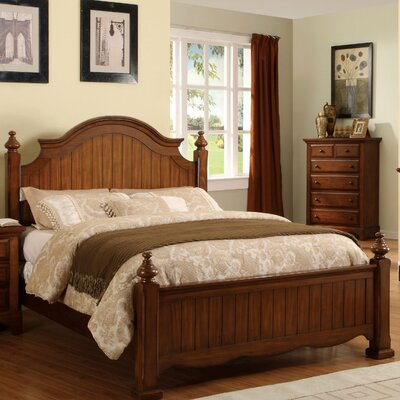 Sorrento Bed in Cherry Oak