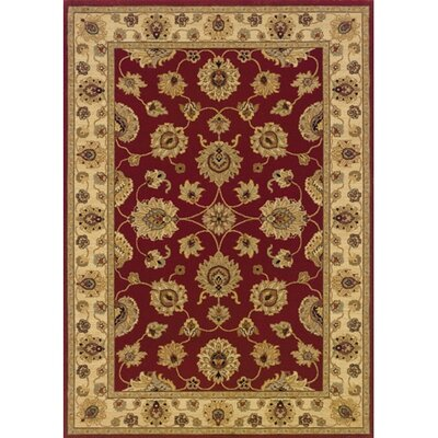 Coar Red/Ivory Area Rug Rug Size: Rectangle 67 x 94