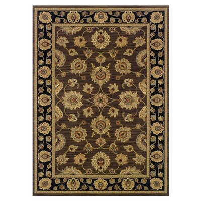 Coar Brown/Black Area Rug Rug Size: 2'3