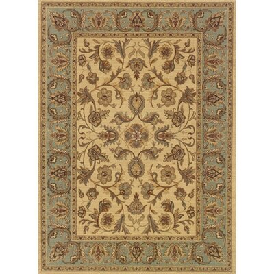 Coar Beige/Blue Area Rug Rug Size: Rectangle 67 x 94