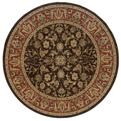 Coar Brown/Rust Area Rug Rug Size: Round 9