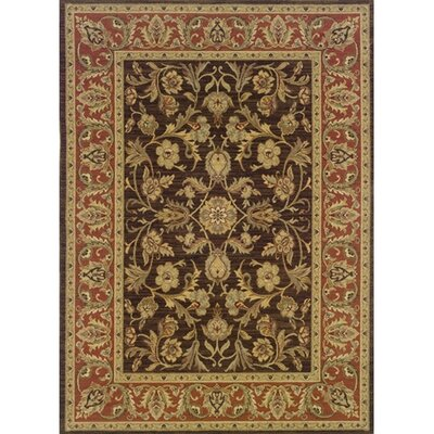 Coar Brown/Rust Area Rug Rug Size: 67 x 94