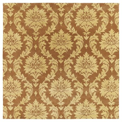 Drewery Brown/Yellow Area Rug Rug Size: Square 79
