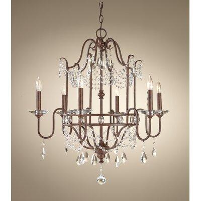 Drewes 6-Light Crystal Chandelier