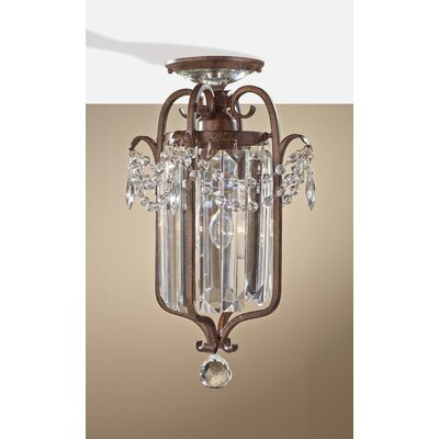Drewes 1-Light Crystal Chandelier