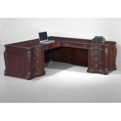 Drumankelly Executive Desk with 10 Drawers Orientation: Right