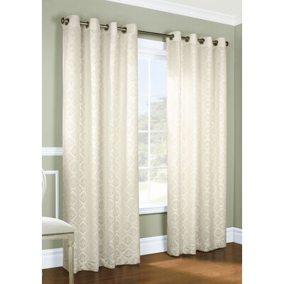 Renato Geometric Semi-Sheer Grommet Curtain Panels