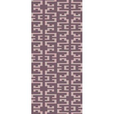 Bart Eggplant/Mauve Geometric Area Rug Rug Size: Runner 26 x 10