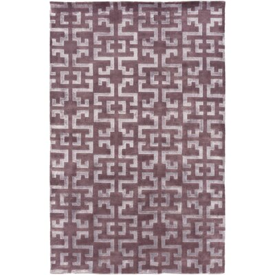 Bart Eggplant/Mauve Geometric Area Rug Rug Size: Rectangle 9 x 13