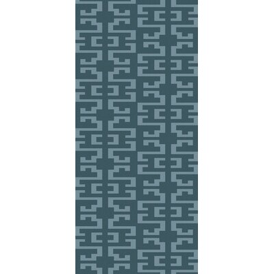 Bart Teal/Gray Geometric Area Rug Rug Size: Runner 26 x 10