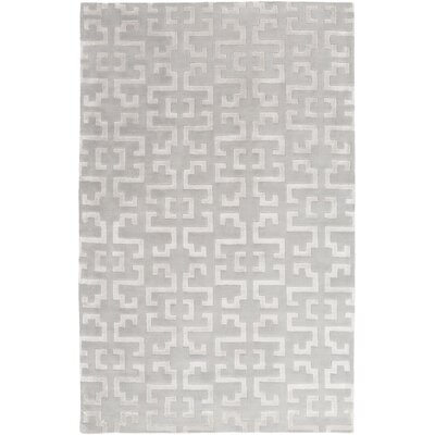 Bart Light Gray Geometric Area Rug Rug Size: 9 x 13