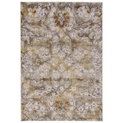 Drummaul Gray/Beige Area Rug Rug Size: Rectangle 8 x 11