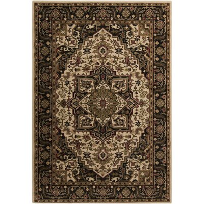 Galesburg Beige Area Rug Rug Size: Rectangle 53 x 76