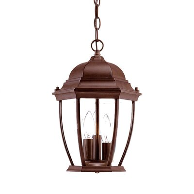 Drumkeeran 3-Light Outdoor Hanging Lantern Finish: Burled Walnut