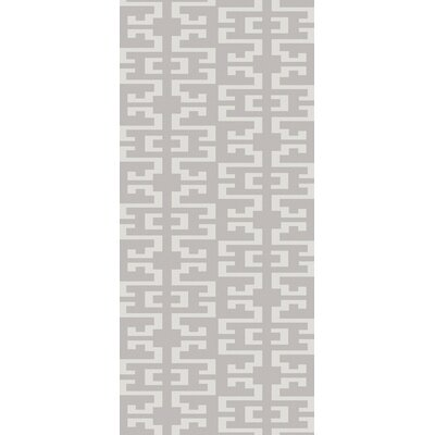 Bart Light Gray Geometric Area Rug Rug Size: Runner 26 x 10