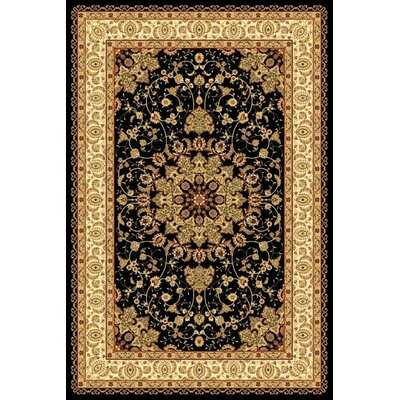 Gwinn Oriental Black Area Rug Rug Size: Rectangle 710 x 102
