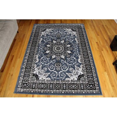 Gwinn Oriental Isfahan Country Blue Area Rug Rug Size: Rectangle 52 x 72