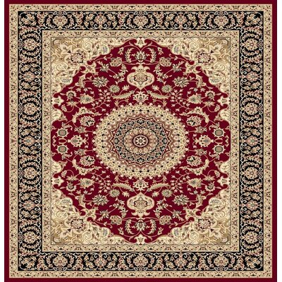 Gwinn Burgundy Indoor/Outdoor Area Rug
