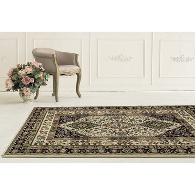 Gwinn Cream Indoor/Outdoor Area Rug Rug Size: 5 x 7