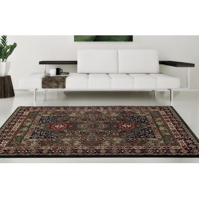 Gwinn Green  Indoor/Outdoor Area Rug Rug Size: 5 x 7