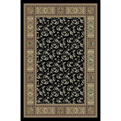 Gwinn Black/Brown Indoor/Outdoor Area Rug Rug Size: 5 x 7