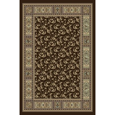Gwinn Brown Indoor/Outdoor Area Rug Rug Size: 5 x 7