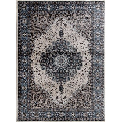 Gwinn Blue Indoor/Outdoor Area Rug Rug Size: 5 x 7