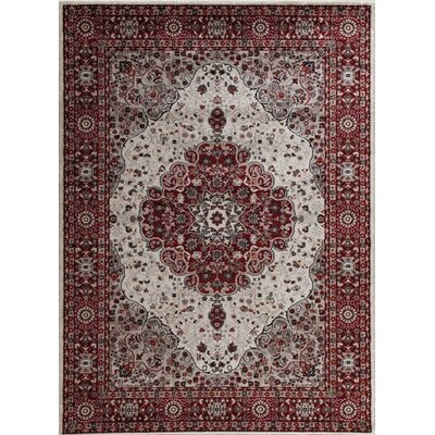 Gwinn Red Indoor/Outdoor Area Rug Rug Size: 5 x 7