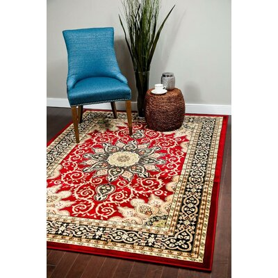 Gwinn Burgundy Indoor/Outdoor Area Rug Rug Size: 8 x 10