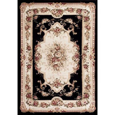 Gwinn Black/Beige Indoor/Outdoor Area Rug Rug Size: 4 x 5